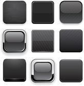 Botones web moderno negro alto detalladas. — Vector de stock