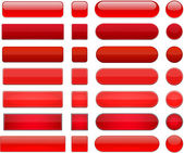 Red high-detailed modern web buttons. — Vector de stock