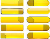 Sarı yüksek detaylı modern web düğmeleri. — Stok Vektör