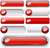 Forum szczegółowe wysokiej web przycisk kolekcja. — Wektor stockowy