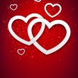 Vector de stock : Red heart background.