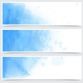 Blue watercolor abstract banners. — Stock Vector
