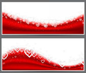 Red heart headers. — Stock Vector