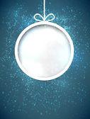 Christmas paper ball. — Stock Vector