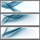 Blue abstract banners. — Stock Vector
