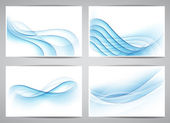 Abstract smoke wavy banners. — Stock Vector