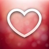 Красный сердечный фон. — Cтоковый вектор