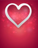 Red heart background. — Stock Vector