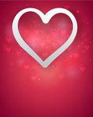 Red heart background. — Vetorial Stock
