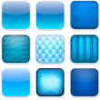 Stock Vector: Blue app icons.