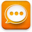 Web linen app speech bubble icon. - Imagen vectorial