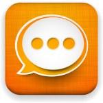 Web linen app speech bubble icon. — Stock Vector #19330609