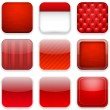 Red app icons. — Stock Vector #19330633