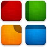 Web linen app icons. — Stock Vector #19330729