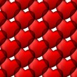 Red love seamless background of heart bubbles. — Stock Vector