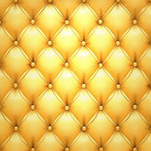 Golden vector upholstery leather pattern background. — Stock Vector