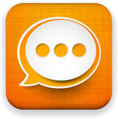 Web linen app speech bubble icon. — Stock Vector