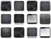 Zwarte app pictogrammen. — Stockvector