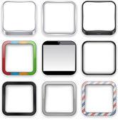 ícones em branco app. — Vetor de Stock