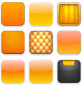 Orange app ikoner. — Stockvektor