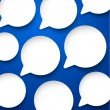Paper white speech bubbles. — Stock Vector