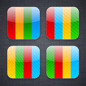 Web app ikoner. — Stockvektor