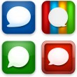 Web speech bubble app icons. — Stock Vector