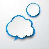 Kağıt beyaz-mavi bulut. — Stok Vektör
