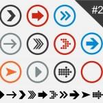 Flat arrow icons. — Stock Vector #22227539