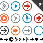 Flat arrow icons. — Stock Vector #22227547