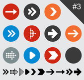 Flat arrow icons. — Stock Vector