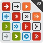 Flat arrow icons. — Stock Vector #22897158