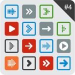 Flat arrow icons. — Stock Vector #22897150