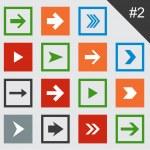 Flat arrow icons. — Stock Vector #22897154