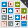 Flat arrow icons. - Stock Vector