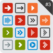 Flat arrow icons. - Vettoriali Stock
