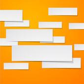 紙の白い長方形バナー. — ストックベクタ