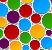 Paper colorful bubbles. — Stock Vector