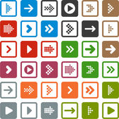 Flat arrow icons. — Stock vektor