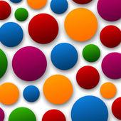 Paper color bubbles. — Stock Vector