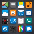 Set of app icons. — Stok Vektör