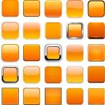 Square orange app icons. — Stock Vector #25607917