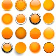 Round orange icons. - Stock Vector