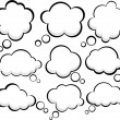 Comic cloud speech bubbles. - Grafika wektorowa