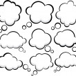 Comic cloud speech bubbles. - Image vectorielle