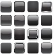 Square black app icons. - Grafika wektorowa