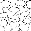 Comic cloud speech bubbles. — Stock Vector