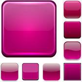 Square magenta app icons. — Stockvektor