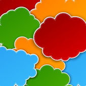 Paper color paper cloud background. — Stock Vector