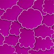 Paper magenta paper cloud background. — Stock Vector